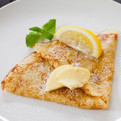 Butter suger lemon  crepe